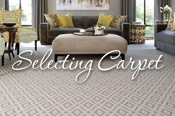 Selecting Carpet